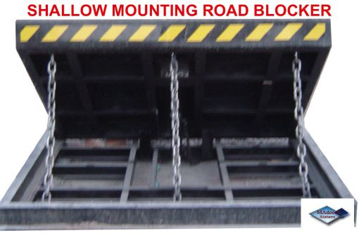 k12 pas68 crash test shallow mounting road blocker
