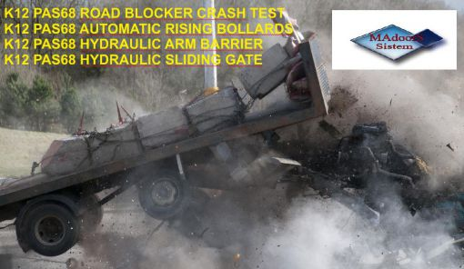 road blocker blok bariyer  crash test çarpma testi