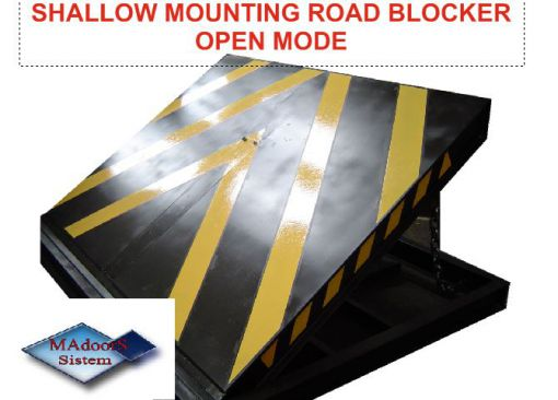 PAS68 shallow mounting road blocker