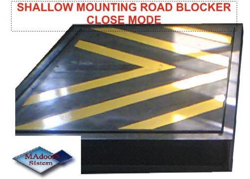 PAS 68 SHALLOW MOUNTING ROAD BLOCKER